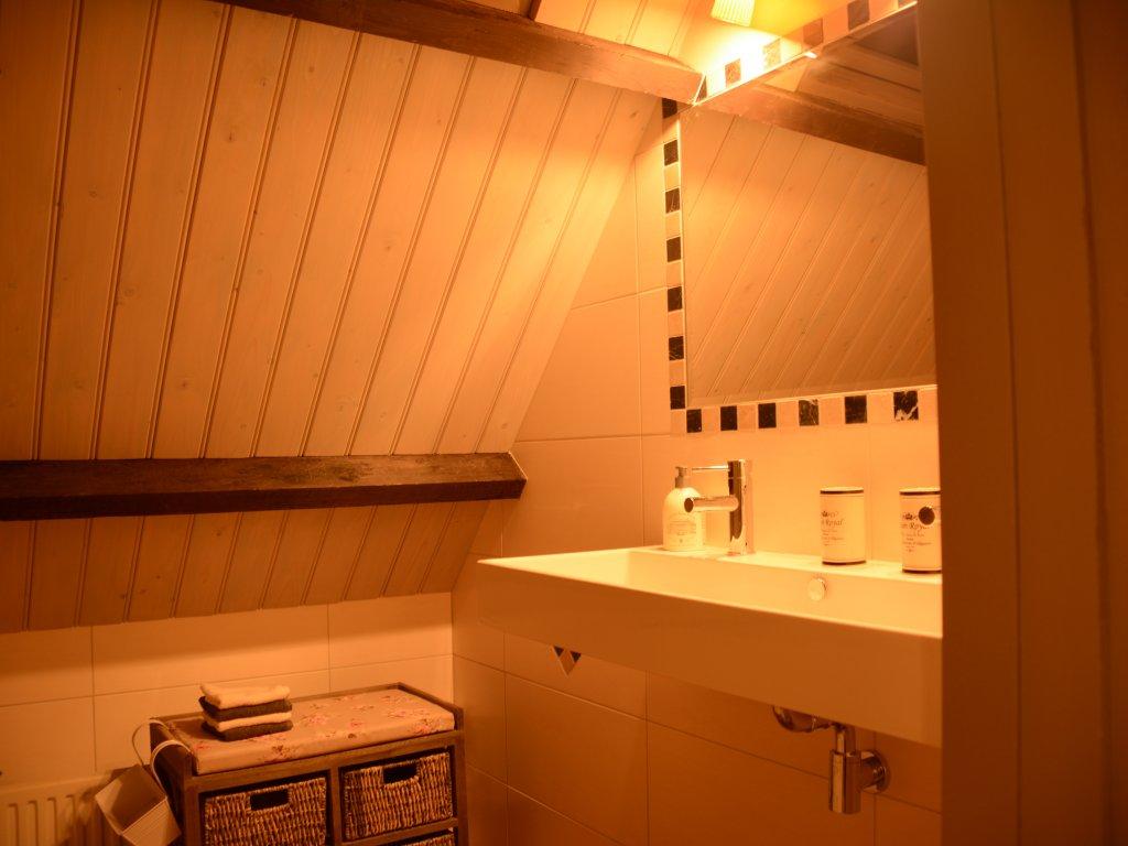 Bathroom 1st floor, with big bath and rain shower
